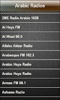 Screenshot of Arabic Radio Arabic Radios
