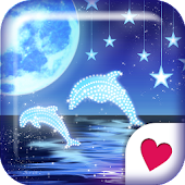 Cute wallpaper★Starry Dolphin