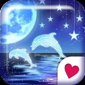 Cute wallpaper★Starry Dolphin