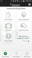 Screenshot of Concussion Quick Check
