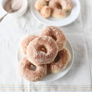 Baked Cinnamon Sugar Doughnuts.