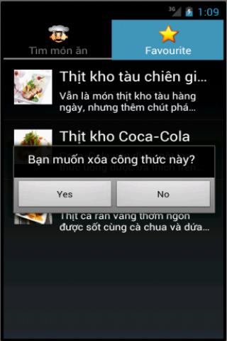 mon an - nau an, cách nấu ăn - screenshot