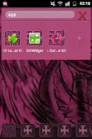 Screenshot of GO Launcher EX Theme Pink Emo