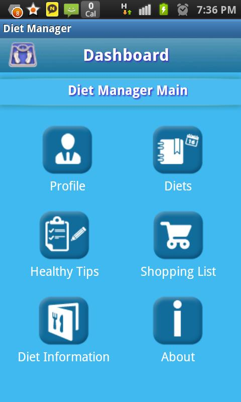 Diet Manager - screenshot