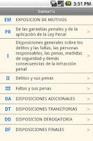Screenshot of Spanish Penal Code