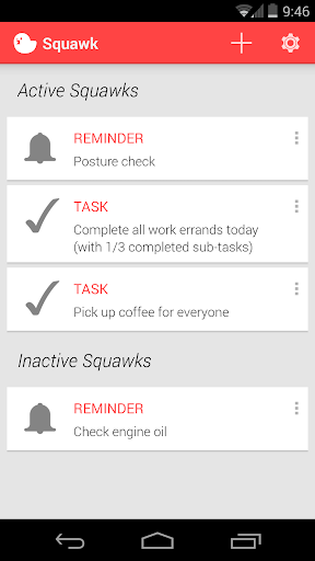 Squawk: Reminders on Unlock