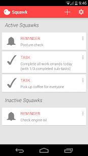 Squawk: Reminders on Unlock - screenshot thumbnail