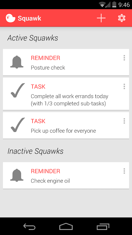 Squawk: Reminders on Unlock- screenshot