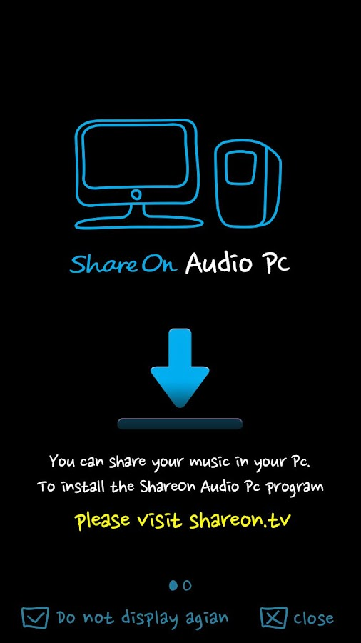 ShareON Audio DLNA MusicPlayer - screenshot