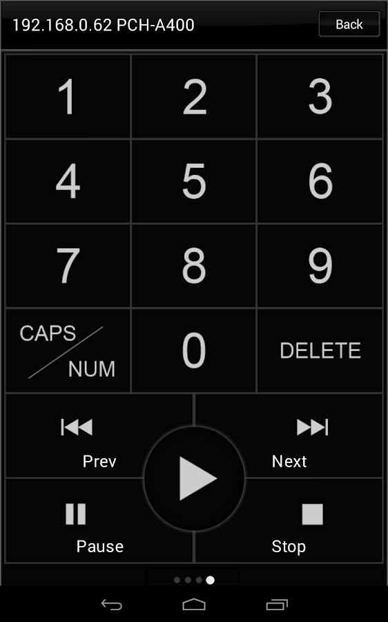 Popcorn Hour Remote Control - screenshot