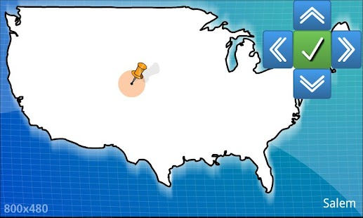 USA geography map quiz - BETA- screenshot thumbnail