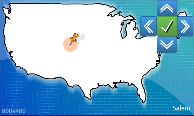 USA geography map quiz - BETA- screenshot
