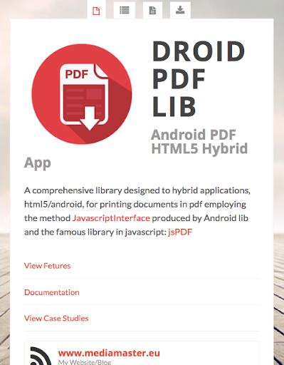 PDFDroid API for Hybrid Apps