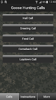 Screenshot of Goose Hunting Calls