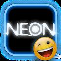 NEON Blue GO SMS Theme logo