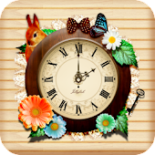 [A natural  woods girl] clock
