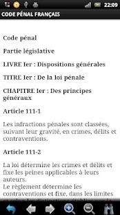 Code Pénal Français GRATUIT - screenshot thumbnail