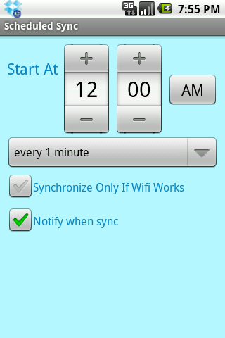 ScheduledSync - screenshot