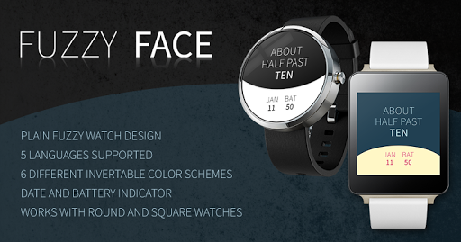 Fuzzy Face - Word Watch Face