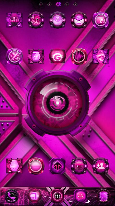 Pink EYE-Phone GO Launcher EX - screenshot