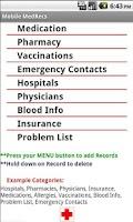 Screenshot of Mobile MedRecs