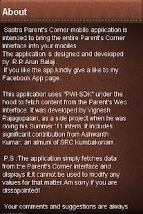 SASTRA Parent's Corner - screenshot thumbnail
