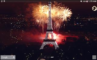 Screenshot of Fireworks Live Wallpaper
