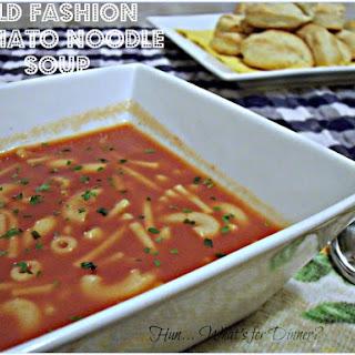 Old Fashion Tomato Noodle Soup