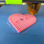 Pink 3D Printed Valentines Heart