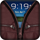Zip Brown Leather FunLock APK for iPhone