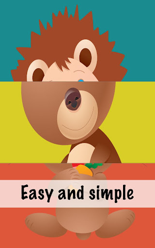 【免費娛樂App】嬰兒的動物拼圖-APP點子