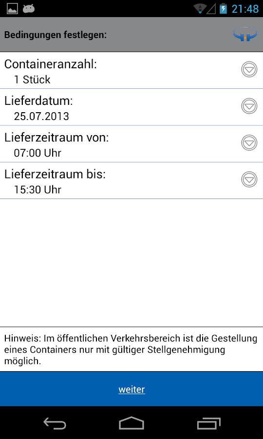 Harmuth Container-App- screenshot