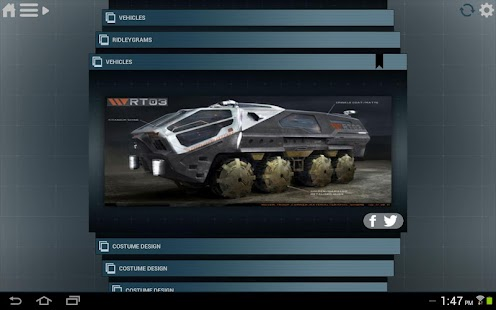 Prometheus Weyland Corp App - screenshot thumbnail