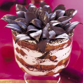 Tiramisu Eggnog Trifle.