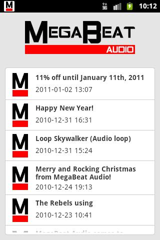 MegaBeat Audio News - screenshot