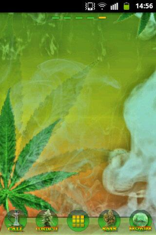 GO Launcher Ganja Weed Theme - screenshot