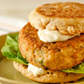 Veggie Burgers with Tahini Mayonnaise.
