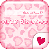 Cute wallpaper★Pink leopard