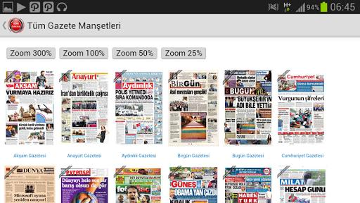 Tüm Gazete Manşetleri HD
