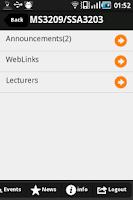 Screenshot of IVLE for NUS