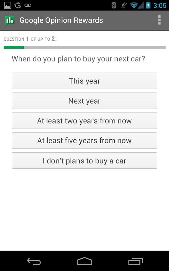 Google Opinion Rewards - screenshot
