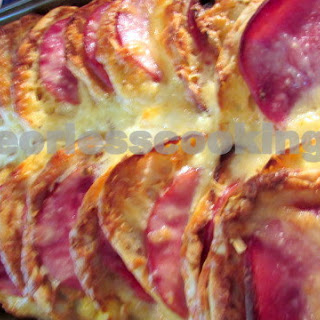 English Muffin, Ham and Egg Strata ( Overnight Bake)