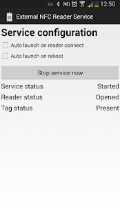 External NFC Reader Service