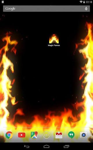 Magic Flames: fire simulation sandbox & wallpaper screenshot