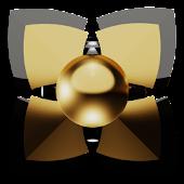 gold man Next Launcher Theme
