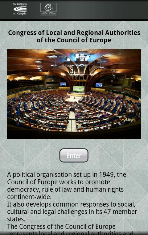 CoE Congress– Capture d'écran