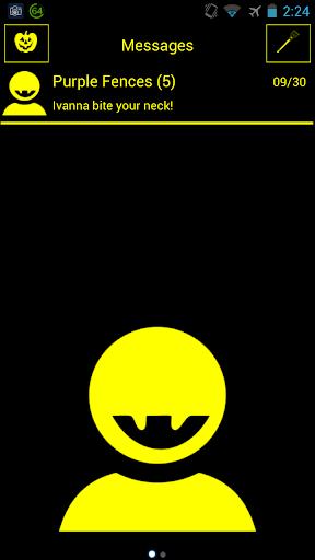 Mr Fang Yellow Halloween GoSMS