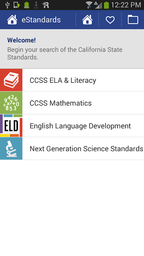 eStandards- screenshot