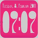 Clock Widget digital 2x2 icon