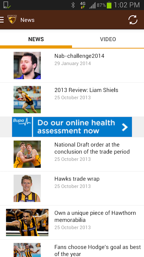 Hawthorn Official App - screenshot